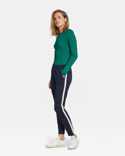 DAMES SPORTY STRIPE PANTALON Marineblauw