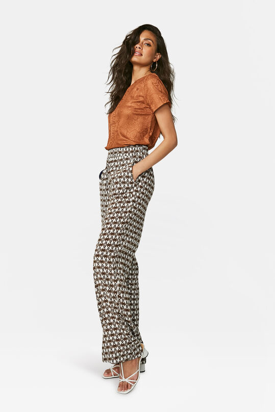 Dames loose fit pantalon Wit