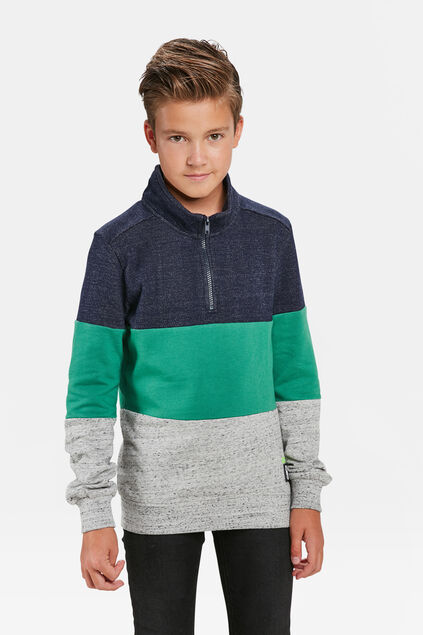 JONGENS COLOURBLOCK SWEATER Felgroen