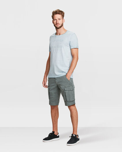 HEREN RELAXED FIT CARGO SHORT Grijsgroen