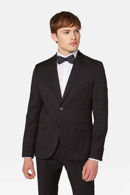 Heren slim fit blazer, Dali Zwart