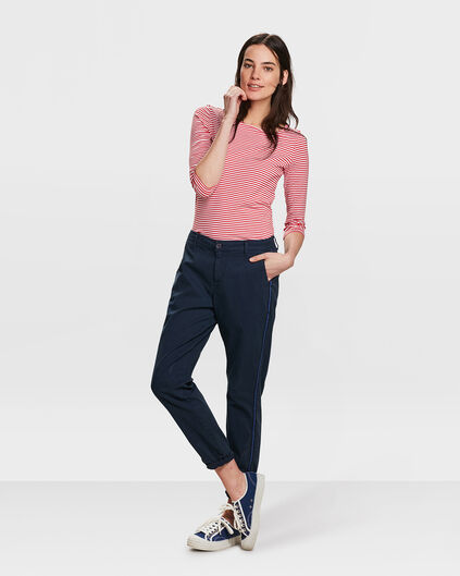 DAMES RELAXED FIT CHINO BROEK Marineblauw