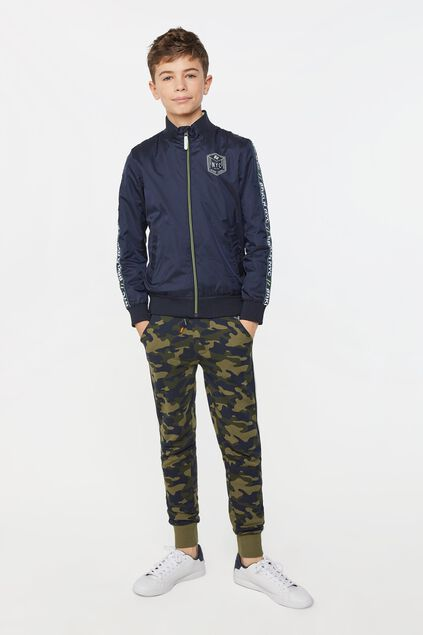 Jongens joggingbroek met tapedetail All-over print