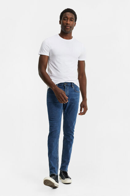 Heren slim fit comfort stretch jeans Blauw