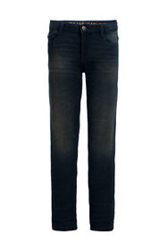 Jongens regular fit jeans met comfort stretch_Jongens regular fit jeans met comfort stretch, Donkerblauw