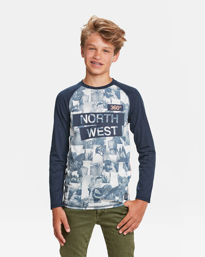 JONGENS NORTH WEST PRINT T-SHIRT Huidskleur