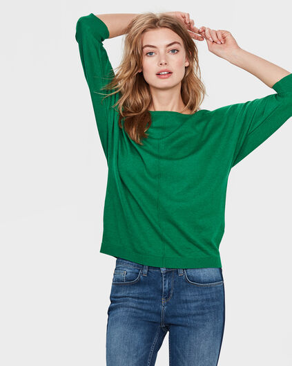 DAMES OVERSIZED KNIT TRUI Groen