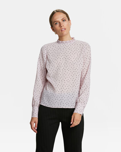 DAMES STIPPENPRINT BLOUSE Oudroze