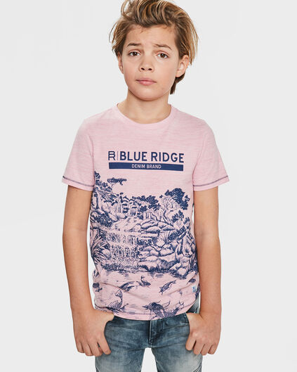 JONGENS BLUE RIDGE PRINTED T-SHIRT Roze