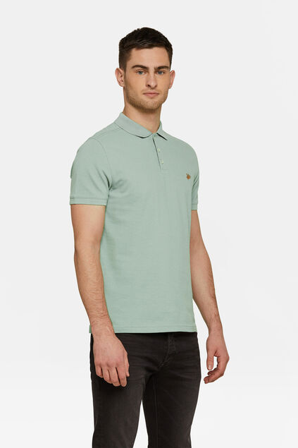 Heren organic cotton pique polo Lichtgroen