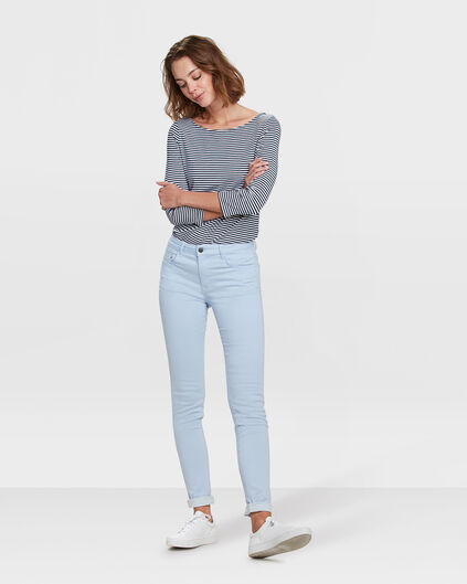 DAMES MID RISE SKINNY HIGH STRETCH BROEK Lichtblauw