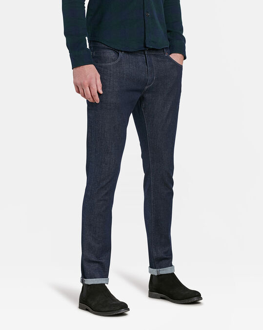 Heren slim fit jeans met comfort stretch Blauw