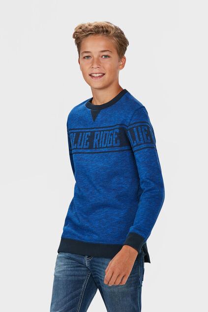 JONGENS BLUE RIDGE SWEATER Kobaltblauw