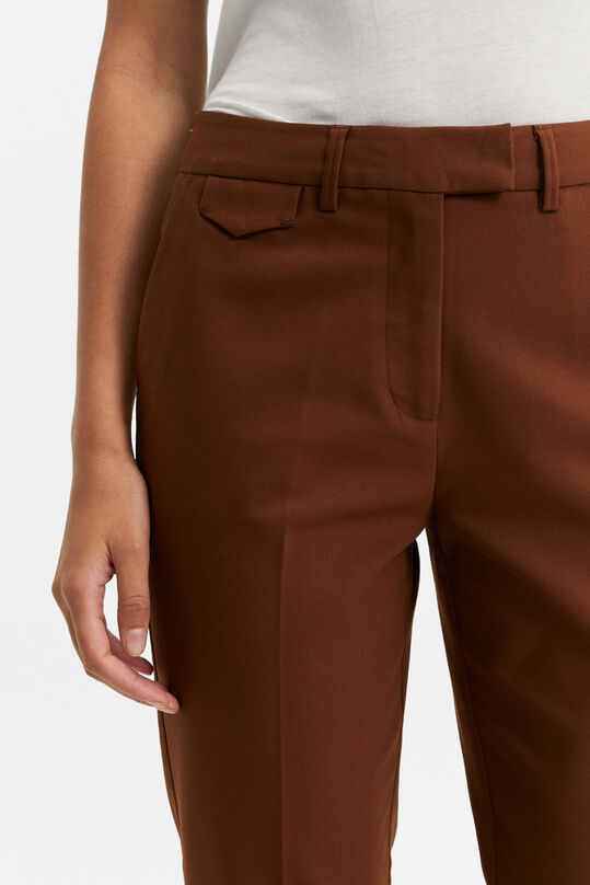 Dames slim fit chino Kaneelbruin