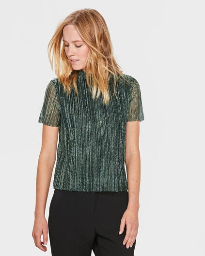DAMES SPARKLY TOP Groen