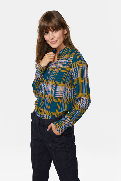 Dames geruite blouse All-over print