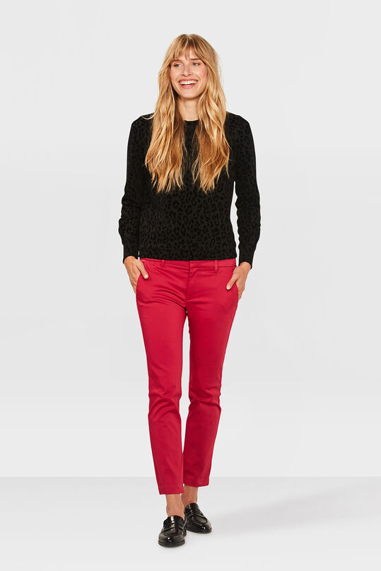 Dames slim fit high stretch cropped chino Roze