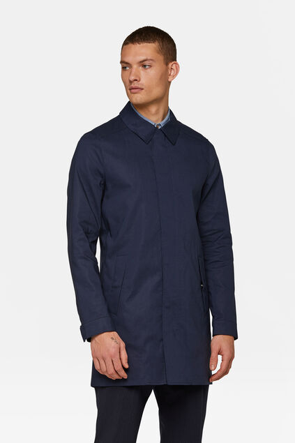 Heren mac coat Marineblauw
