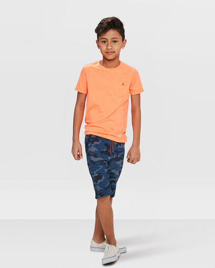 JONGENS CAMOUFLAGE SWEAT SHORT Grijs