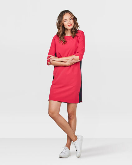DAMES SIDE STRIPE JURK Roze