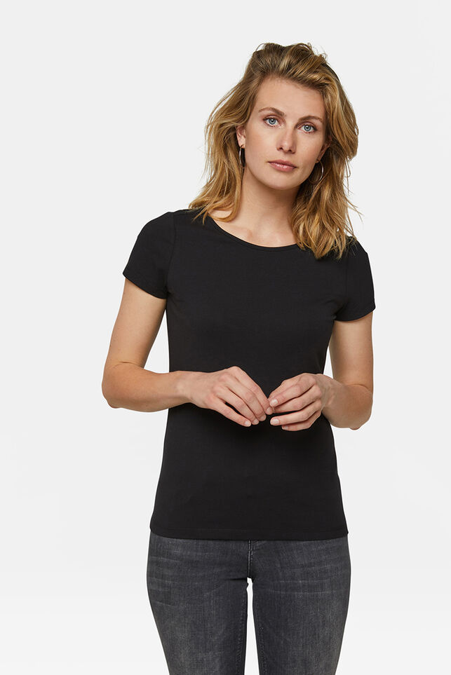 Dames organic cotton T-shirt Zwart