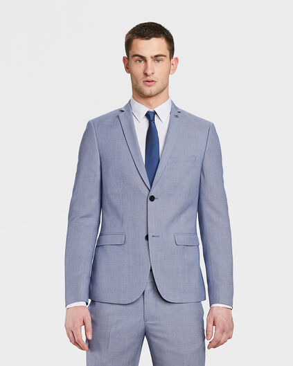 HEREN SKINNY FIT BLAZER CARTER Marineblauw