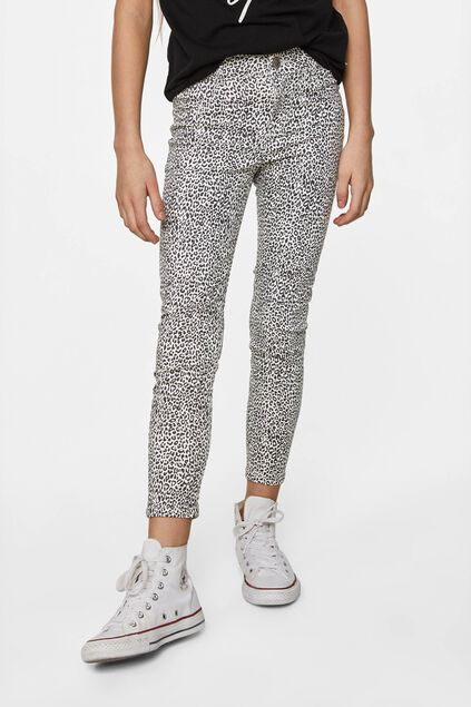 Meisjes super skinny jegging All-over print