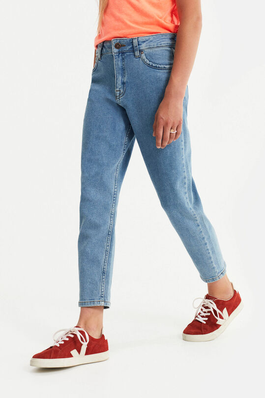 Meisjes high rise mom-fit jeans Lichtblauw