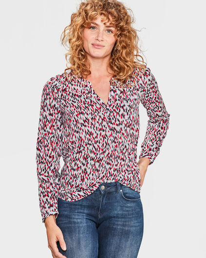 DAMES SINGLE PATCH POCKET BLOUSE All-over print