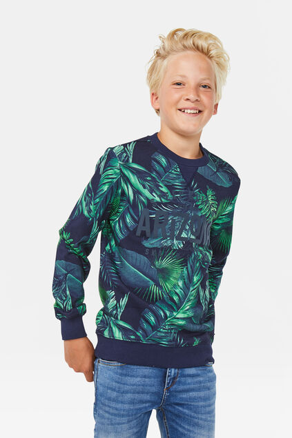 Jongens Arizona sweater Marineblauw