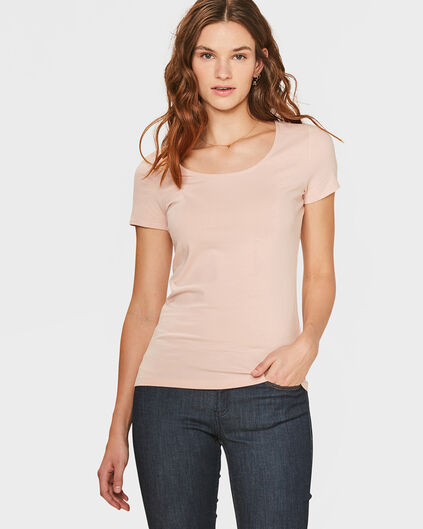 DAMES ORGANIC COTTON T-SHIRT Lichtroze
