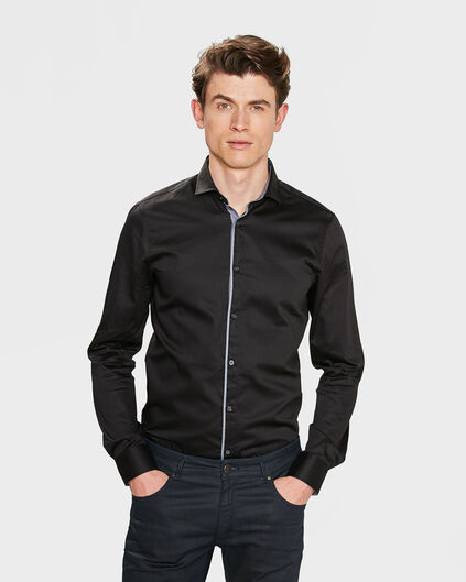 HEREN SLIM FIT OVERHEMD Zwart