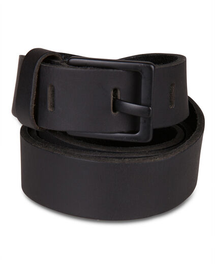 Heren real leather riem Zwart