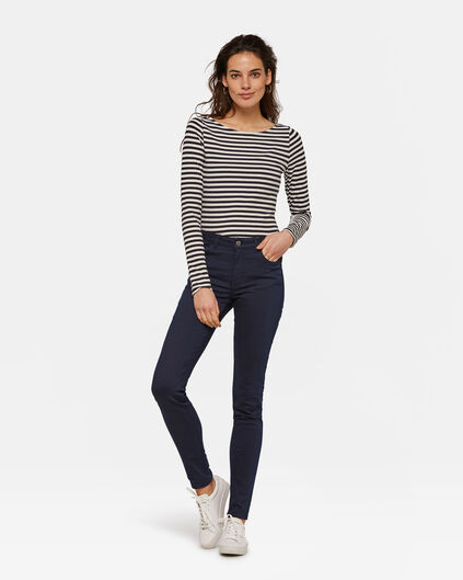 DAMES MID RISE SKINNY HIGH STRETCH BROEK Marineblauw