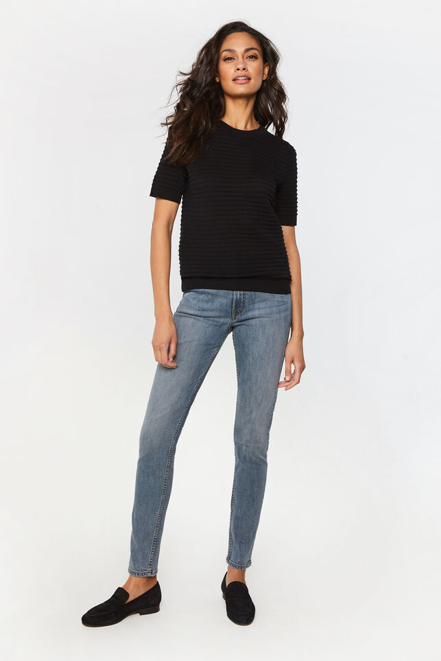 Dames high rise skinny jeans Grijs