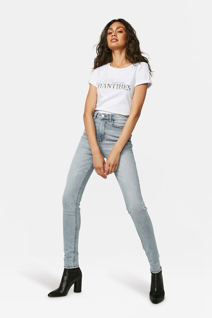 Dames high rise super skinny jeans Grijs