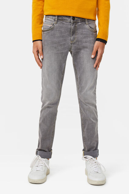 Jongens slim fit jeans met super stretch Grijs