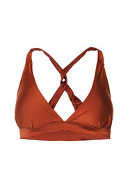 Dames triangelbikinitop_Dames triangelbikinitop, Roestbruin