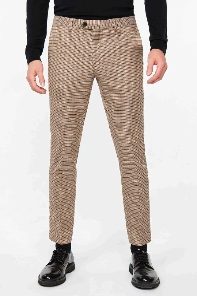 Heren slim tapered pantalon Ignance Multikleur