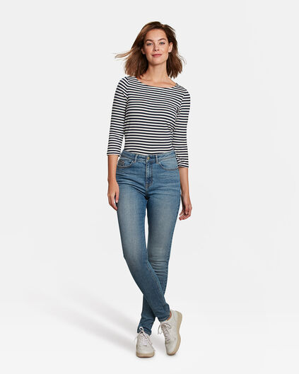 Dames high rise comfort stretch skinny jeans Blauw
