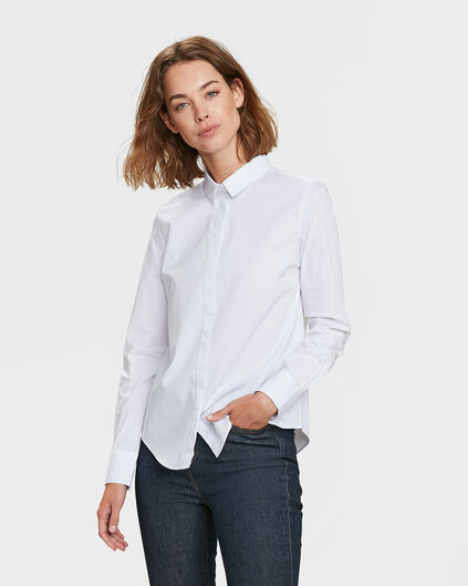 DAMES SLIM FIT BLOUSE Wit