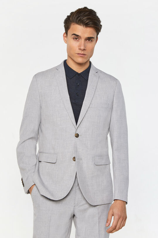 Heren regular fit blazer, Dali Lichtgrijs