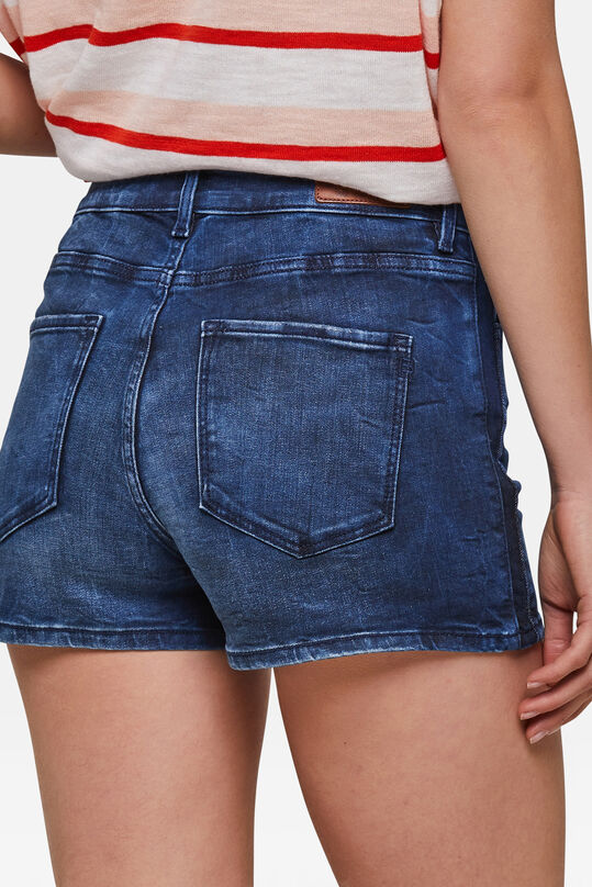 Dames high waist denim short Donkerblauw