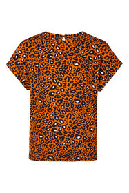Meisjes luipaardprint top_Meisjes luipaardprint top, Rood