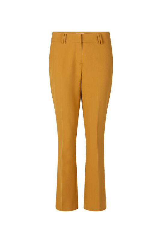 Dames flared pantalon Okergeel