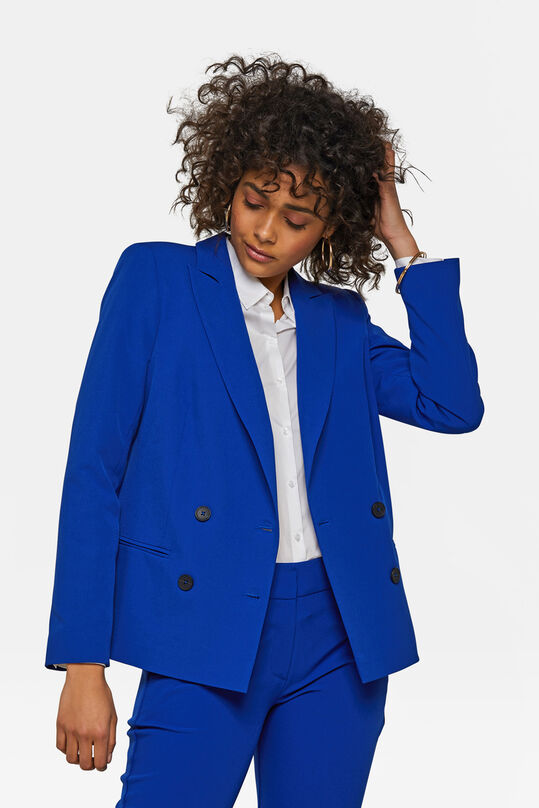Dames loose fit double breasted blazer Kobaltblauw