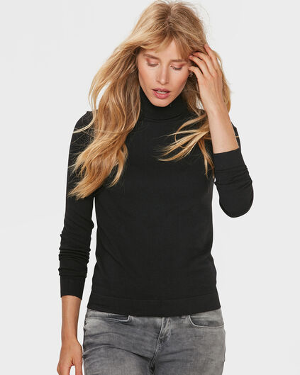 DAMES ROLL NECK TRUI Zwart