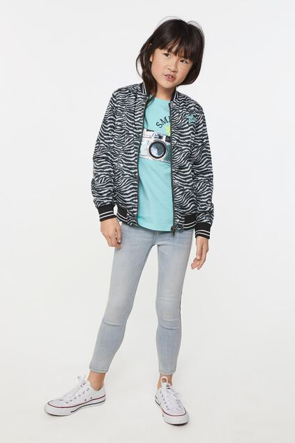 Meisjes reversible bomber jacket All-over print