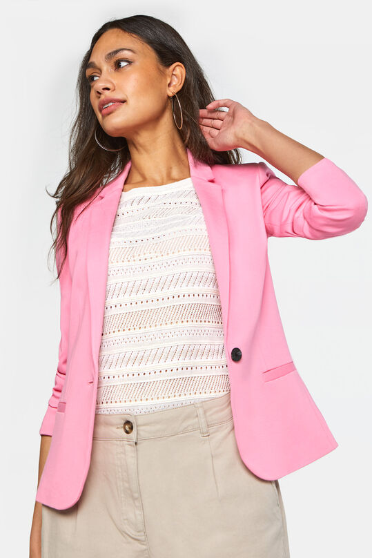 Dames regular fit blazer Lichtroze