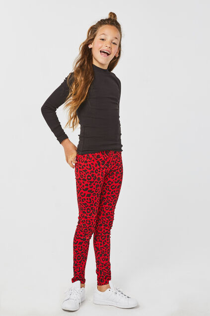 Meisjes super skinny jegging Rood